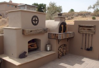 DIY Pizza Oven and Fireplace Combo