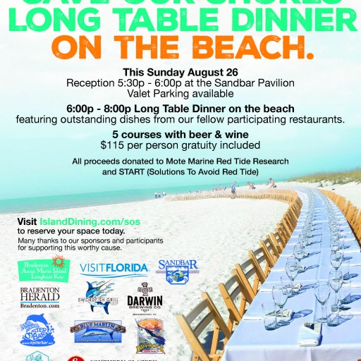Save Our Shores Long Table Event Effort to Help Businesses Affected by Red Tide