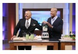 A.D. Dolphin And Steve Harvey Making A Smoothie