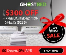 GhostBed Black Friday Mattress Sale - Up to $300 Off