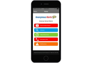 Anonymous Alerts® anti-bullying and safety reporting app