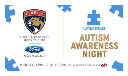 Florida Panthers to Host Autism Awareness Night on April 2