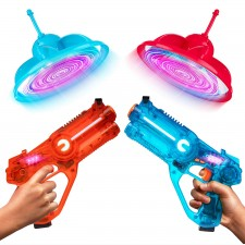 Laser Launchers Laser Tag Game with Flying Targets