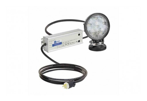Larson Electronics Releases 27W Portable LED Light W/ Magnetic Base, 120-277V AC, 2,160 Lumens