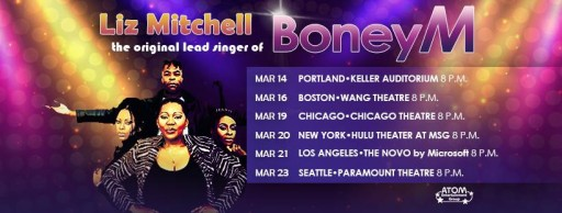Disco Sensation Boney M. Featuring Liz Mitchell Returns to the US