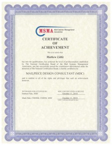 Mathew Little, MDC Certificate