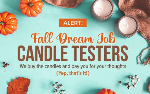 Ready for Fall and Flannels? Love Everything Pumpkin Spice? Wishlisted.com is Announcing the Ultimate Fall Contest - It's Paying People to Smell Candles