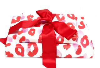 Red Cheetah Print Gift Wrap