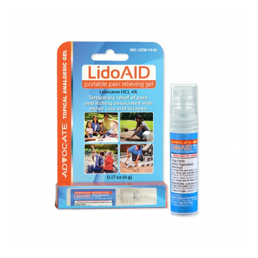 Advocate by Pharma Supply, Inc. Launches LidoAID, a New Portable Form of Fast-Acting Lidocaine Pain Relieving Gel
