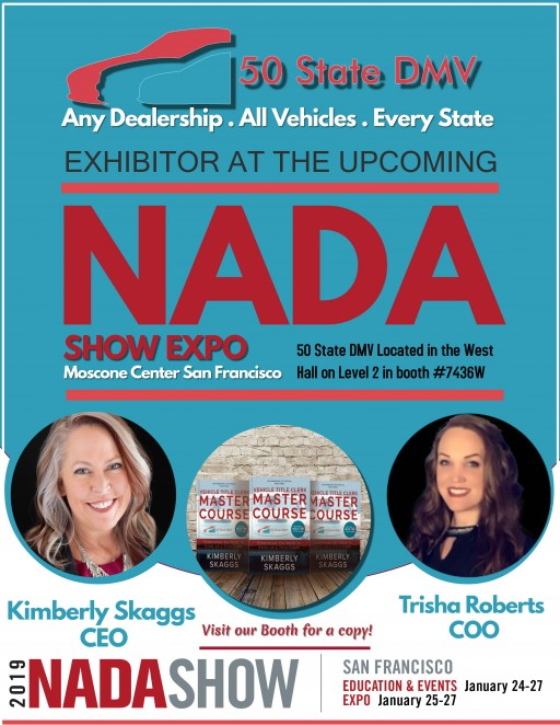 50 State DMV to Exhibit at 2019 NADA Expo