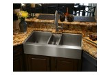 Custom triple-bowl stainless steel sink