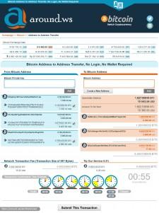 Around.WS Bitcoin Address to Address Direct Transfer