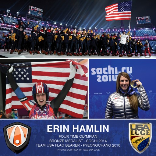 Erin Hamlin, Olympic Bronze Medalist and US Flag Bearer, to Appear in Southern California
