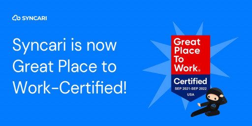 Syncari Earns 2021 Great Place to Work Certification™