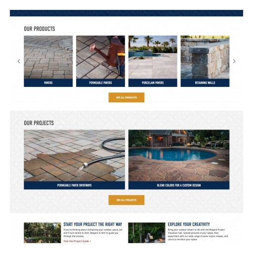Belgard® Launches New Website With Geo-Targeting, Design Services and More