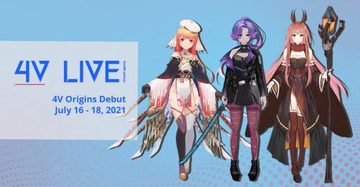 4V Live's US-Based VTuber Group '4V Origins' Debut Schedule Announced