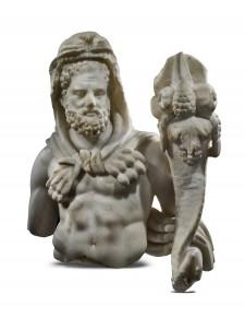 Roman Marble Hercules with Cornucopia