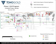 Tonogold Phase 1 Drill Program