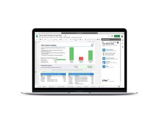 Tiller Money Launches New Google Sheets Platform to Instantly Automate Personal Finances in Spreadsheets