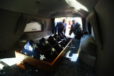 Cremains of Unclaimed Servicemen in Hearse