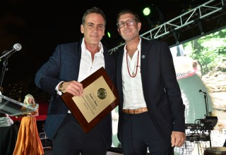 Actor Carlos Ponce and GEM Founder Michael Capponi