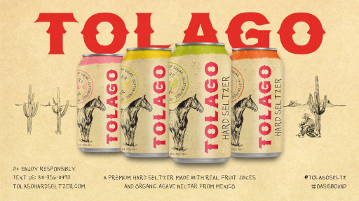 Super-premium Tolago Hard Seltzer, Created by Talent Collective, Comes Out of the Gate Strong to Set New Category Paradigm