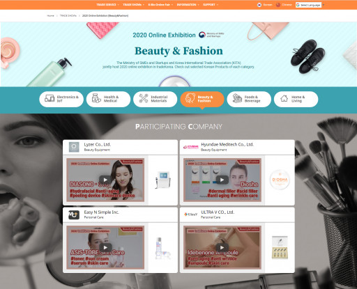 Outstanding Korean Products Introduced at TradeKorea Webpage - Beauty & Fashion