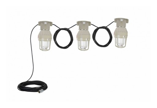 Larson Electronics Releases Explosion-Proof LED String Light, 30 Watts, CID1/CIID1, 20-Foot 16/3 SOOW