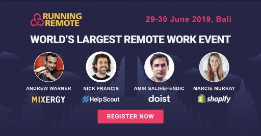 Running Remote Conference, 29-30 June 2019: Build and Scale Your Remote Team to the Next Level, Bali