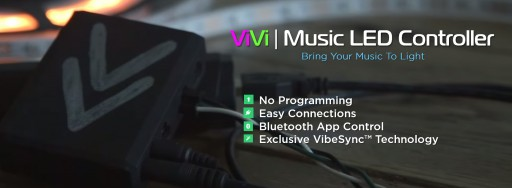 The Most Versatile Music LED Light Tool That Syncs to Music Automatically - the ViVi Music LED Controller