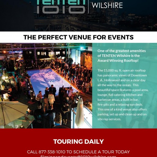 No Better Venue for Your Next Event—Award-Winning TENTEN Wilshire Rooftop