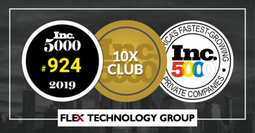 Flex Technology Group Retains Elite Status in the 2019 Inc. 500|5000 List of Fastest Growing Companies