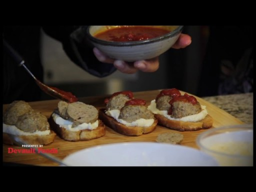 quick and delicious appetizer with meatballs