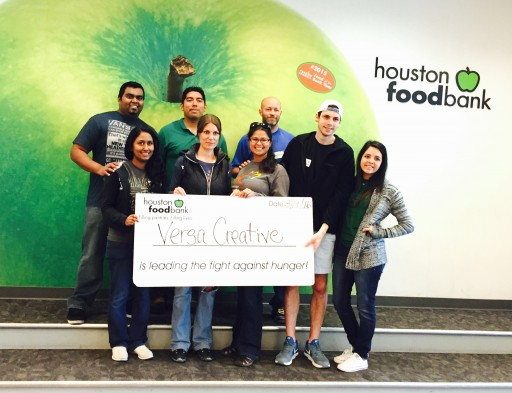 Versa Creative Group Volunteers at the Houston Food Bank