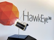 HawkEye 360 Satellite Model in Headquarter's Lobby