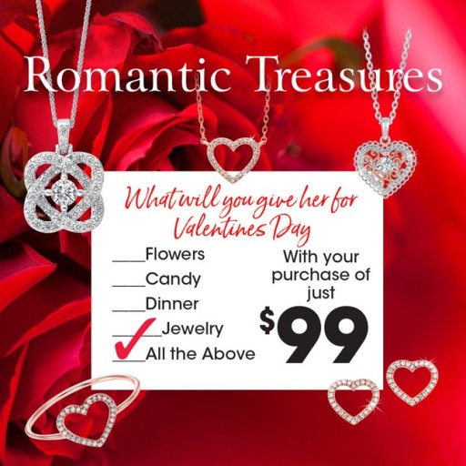 Huntington Fine Jewelers Offering a Romantic Package of Gifts for Customers Through Valentine's Day