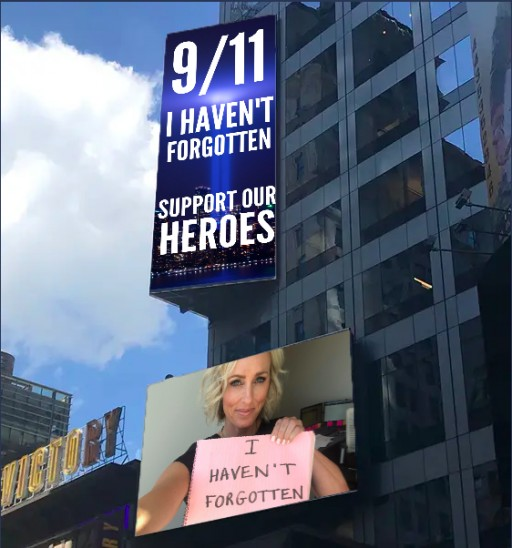 Nonprofit is Raising Money for 9/11 First Responder Programs by Putting Donors on a Times Square Billboard