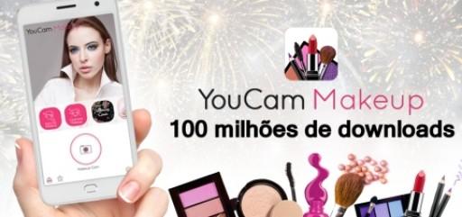 """O App nº 1 de maquiagem no mundo """"YouCam Makeup"""" alcança 100 milhões de downloads em tempo recorde"""