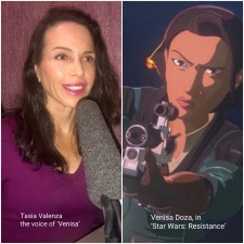 """Tasia Valenza joins cast of """"Star Wars: Resistance"""" as the Voice of 'Venisa Doza'"""