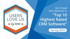 G2 Crowd NetHunt Highest rated CRM