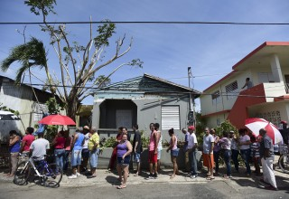 Long lines everywhere in Puerto Rico