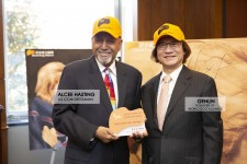 Congressman Alcee Hastings was presented the Golden Dog Award