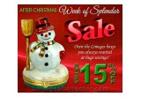 After-Christmas 15% Sale at LimogesCollector.com