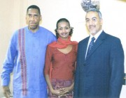 """Anthony """"Amp"""" Elmore travel to Kenya in January of 2005. He stopped by the office of Najib Balala to thank him for come to Memphis in April of 2004."""