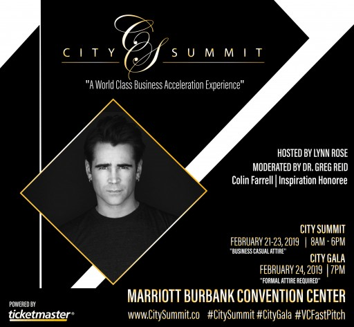 Colin Farrell to Receive Inspiration Honor at 4th Annual City Summit & Gala in Los Angeles Produced by Ryan Long