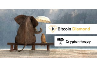 Bitcoin Diamond and Cryptanthropy Logos
