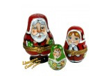 Santa, Mrs Claus & Elf Limoges Box Set | LimogesCollector.com