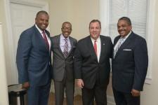Pres. AACCNJ John Harmon, Trenton Businessman Tracey Syphax and Chairman of AACCNJ Hosea Johnson