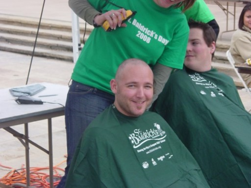 August Ruckdeschel Shaves Head in Backing of St. Baldrick's Foundation