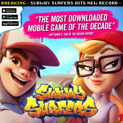 Subway Surfers is the Most Downloaded Mobile Game of the Decade